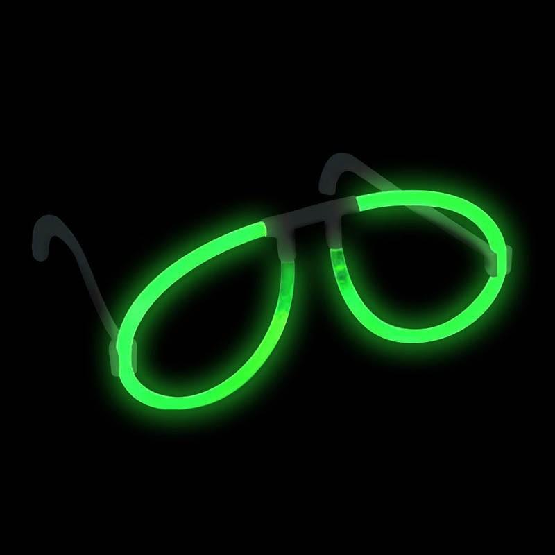 Kit 50 Occhiali luminosi verdi