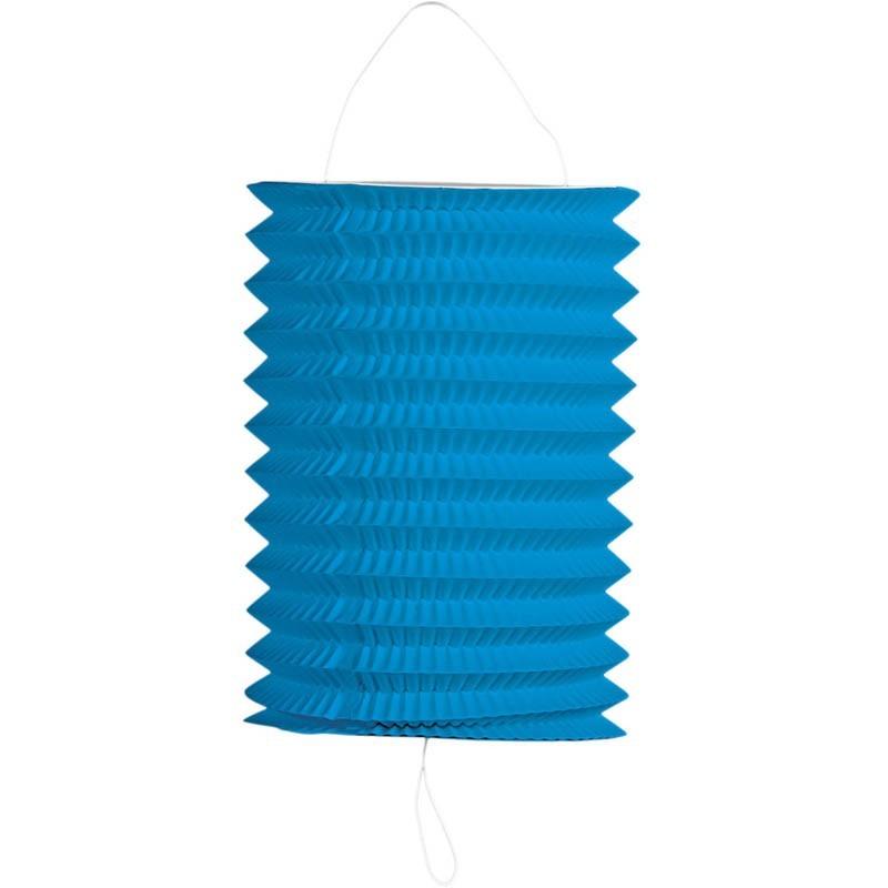 Lanterna carta cilindrica blu'