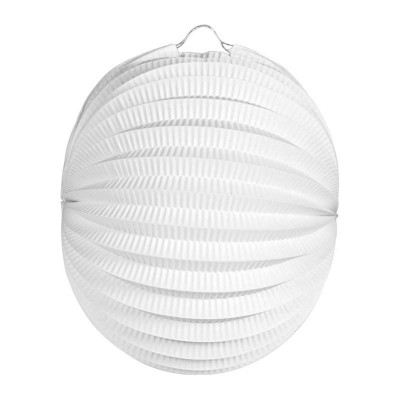 Lanterna carta tonda bianca