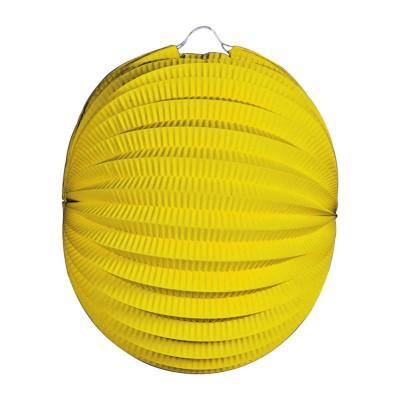 Lanterna carta tonda gialla