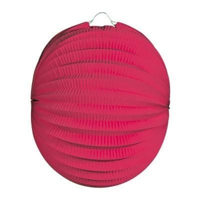 Lanterna carta tonda rosa