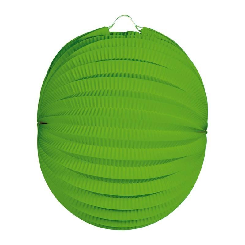 Lanterna carta tonda verde