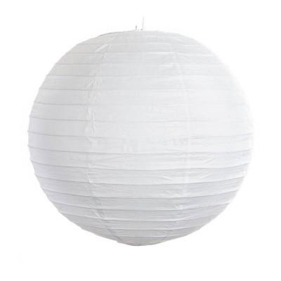 Lanterna decorativa di carta bianca 35 cm