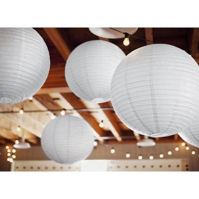 Lanterna decorativa di carta bianca 25 cm