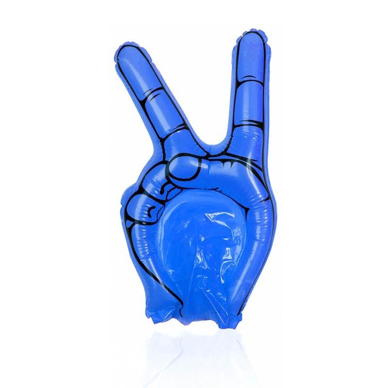 Mano gonfiabile azzurra