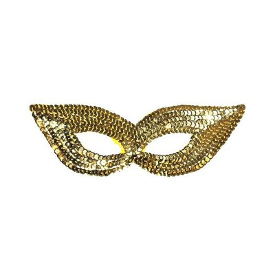 Mascherina Paillettes Oro