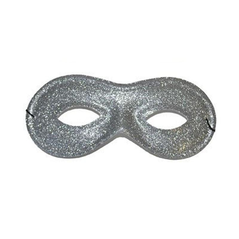Mascherina glitter argento