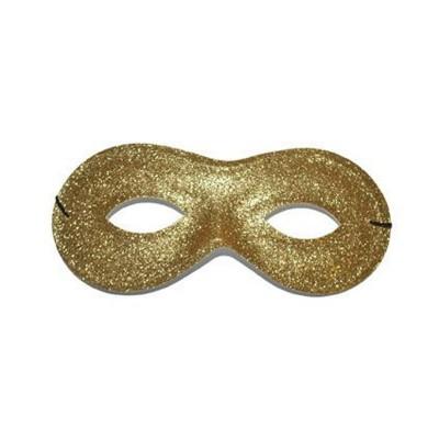 Mascherina glitter oro