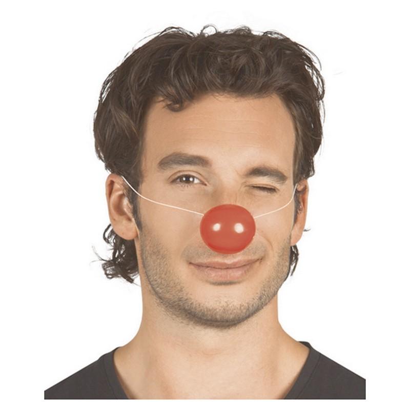 Naso clown plastica con elastico - 1 pz
