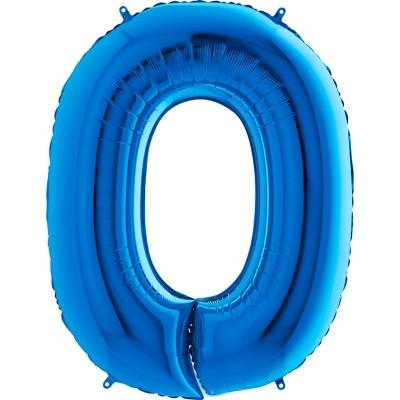 Numero 0 azzurro cm 100