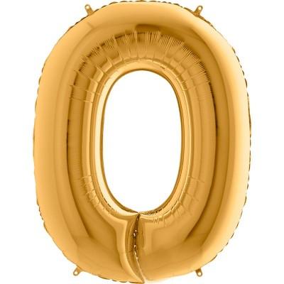 Numero 0 Oro 100 cm
