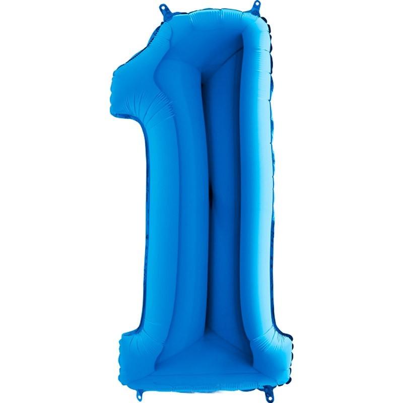 Numero 1 azzurro cm 100