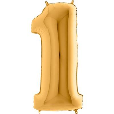 Numero 1 oro 100 cm