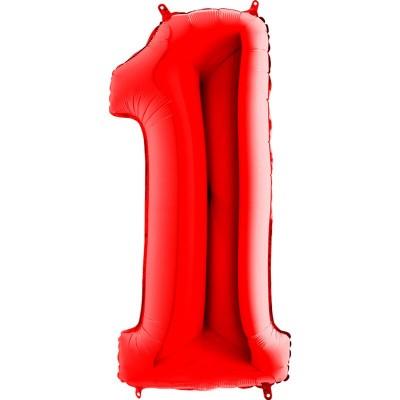 Numero 1 Rosso 100 cm