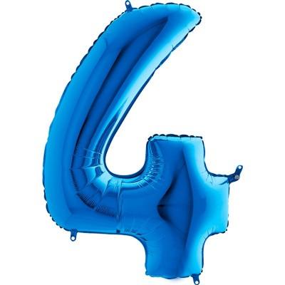Numero 4 azzurro cm 100
