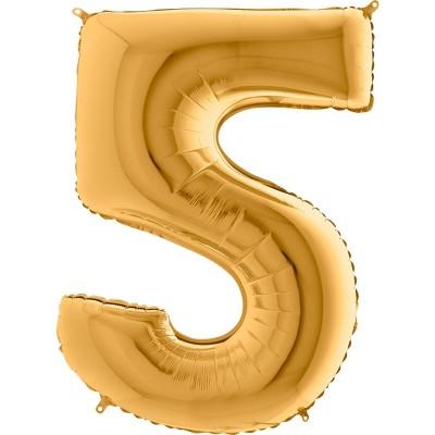 Numero 5 oro 100 cm