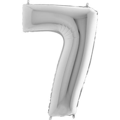 Numero 7 argento 100 cm