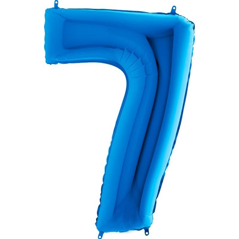 Numero 7 azzurro cm 100