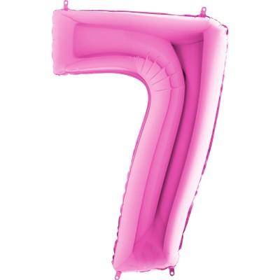 Numero 7 rosa 100 cm
