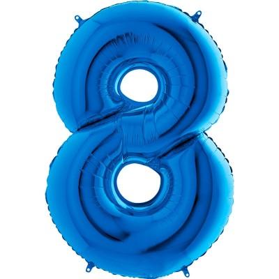 Numero 8 azzurro cm 100
