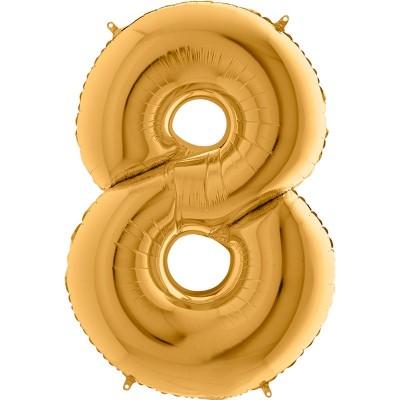 Numero 8 Oro 100 cm