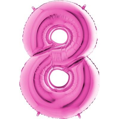 Numero 8 rosa 100 cm