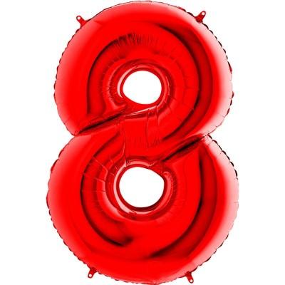 Numero 8 Rosso 100 cm