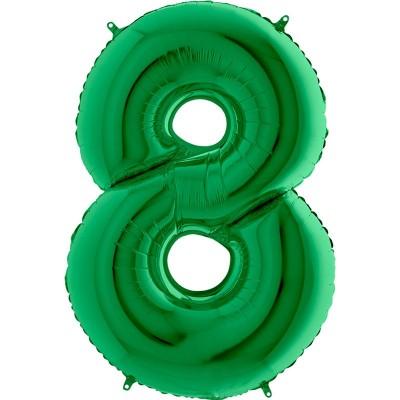 Numero 8 Verde 100 cm