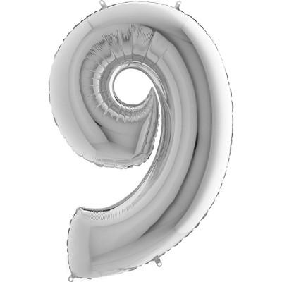Numero 9 argento 100 cm