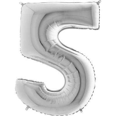 Numero 5 argento 100 cm