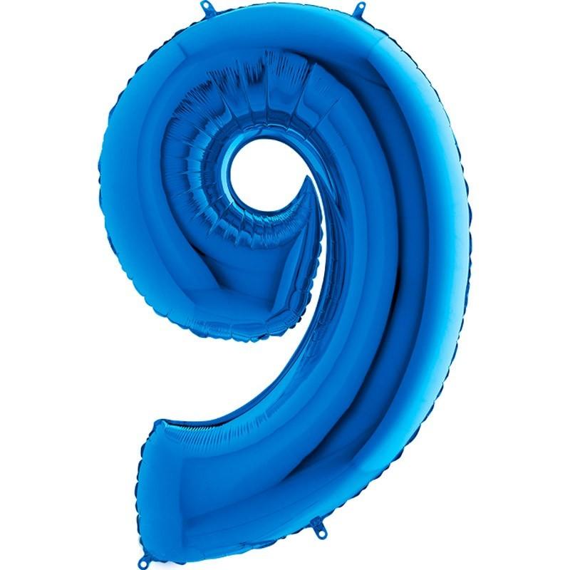 Numero 9 azzurro cm 100