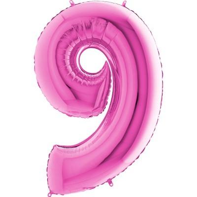 Numero 9 rosa 100 cm