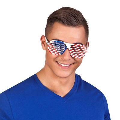 Occhiali con lenti a righe America