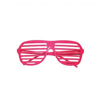 Occhiali con lenti a righe rosa