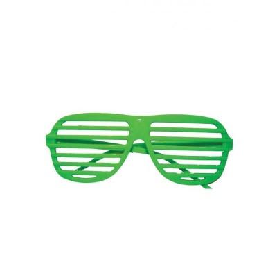 Occhiali con lenti a righe verdi