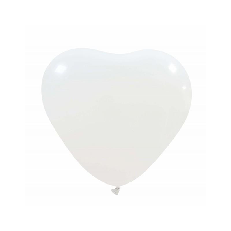 Palloncini Cuore bianco - 20 pz