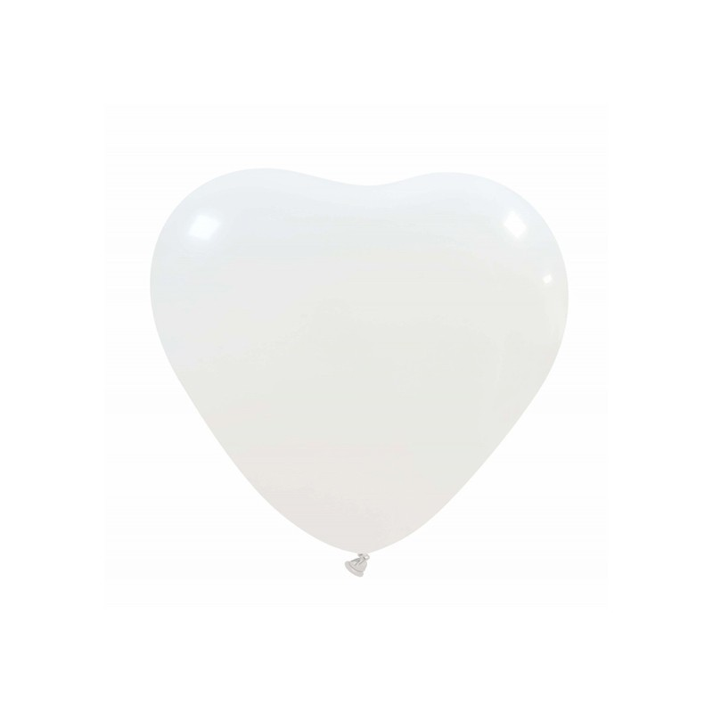 Palloncini cuore piccolo bianco - 20 pz