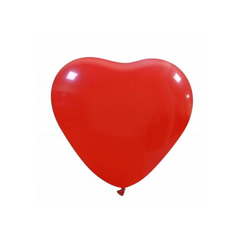 Palloncini cuore piccolo rosso - 20 pz