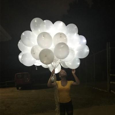 Palloncini Luminosi Bianchi - 25 pz