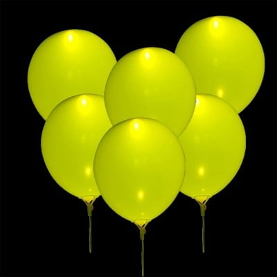 Palloncini Luminosi Gialli - 5 pz