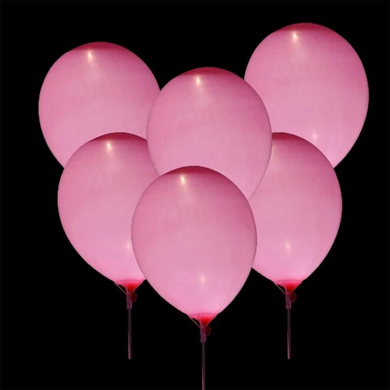 Palloncini Luminosi Rosa - 5 pz