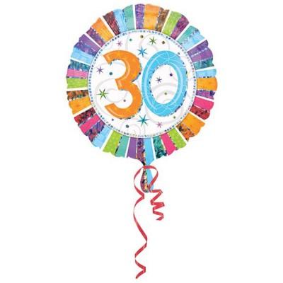 Palloncino mylar 30 anni colorato