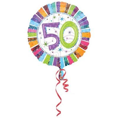 Palloncino mylar 50 anni colorato