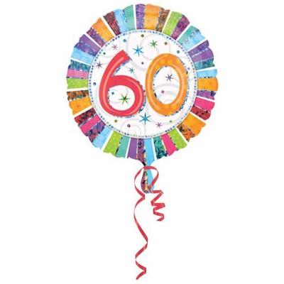Palloncino mylar 60 anni colorato