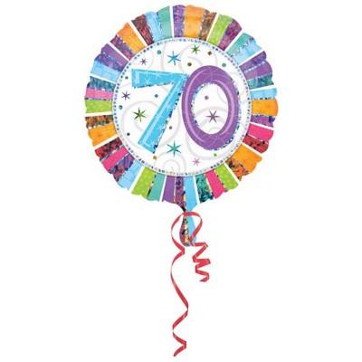 Palloncino mylar 70 anni colorato