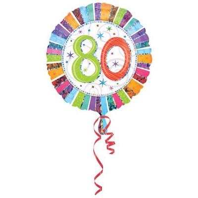 Palloncino mylar 80 anni colorato
