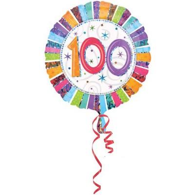 Palloncino mylar 100 anni colorato