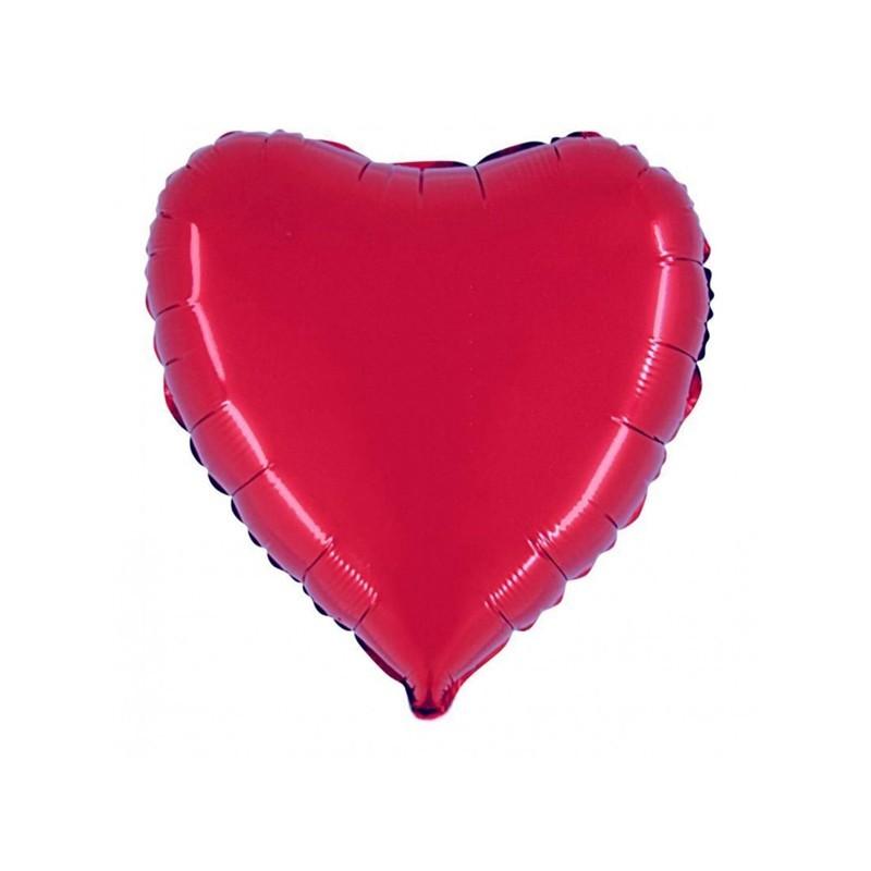 Palloncino Mylar Cuore Rosso 45 cm