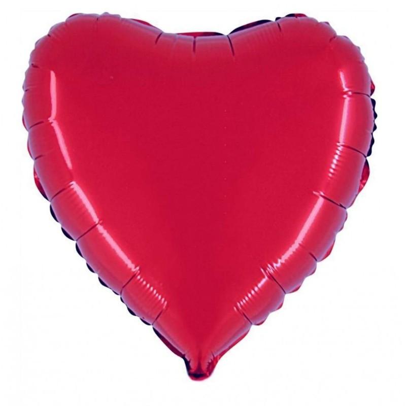Palloncino Mylar Cuore Rosso 85 cm