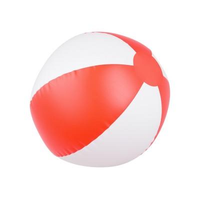 Pallone da spiaggia Spicchi bianco rosso
